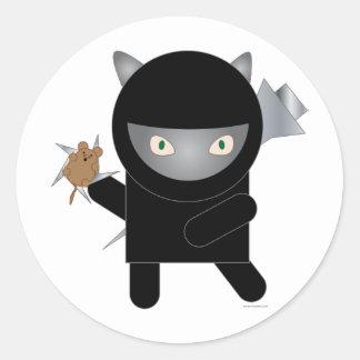 pegatina del gatito del ninja