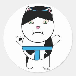 Pegatina del gatito del sumo