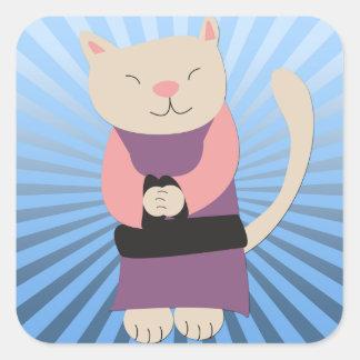 Pegatina del gatito del zen