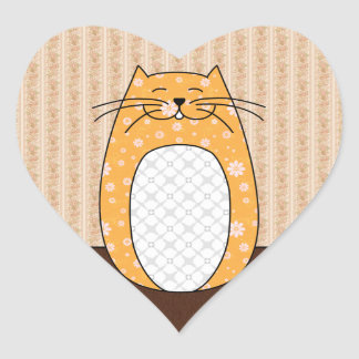 Pegatina del gato anaranjado