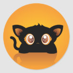 Pegatina del gato de Halloween