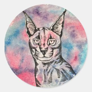 Pegatina del gato de la galaxia