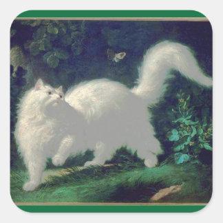 Pegatina del gato del angora