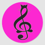 Pegatina del gato del jazz