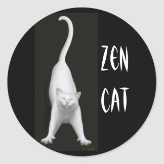 Pegatina del gato del zen