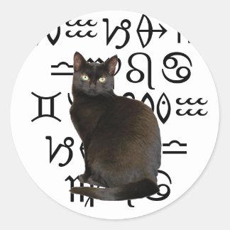 Pegatina del gato del zodiaco