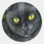 Pegatina del gato negro