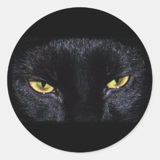 Pegatina del gato negro de Halloween