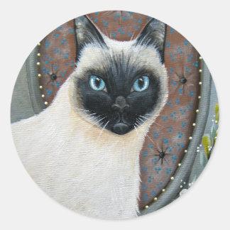 Pegatina del gato siamés