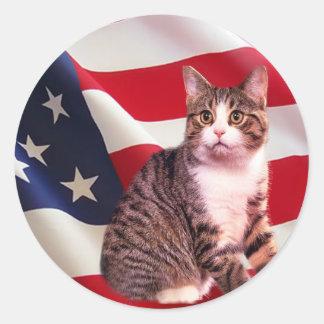 Pegatina del gato todo americano