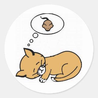 pegatina del gato y del ratón