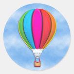 Pegatina del globo del aire caliente