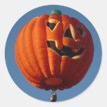 Pegatina del globo del aire caliente de la Jack-O-