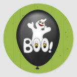 Pegatina del globo del fantasma de Halloween