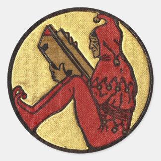 Pegatina del gnomo de la lectura