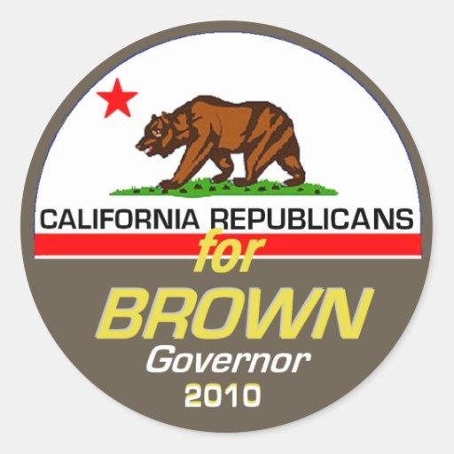 Pegatina del gobernador de BROWN