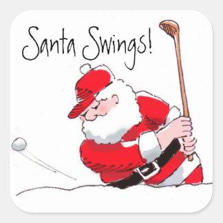 Pegatina del golf de Santa