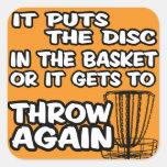 Pegatina del golf del disco