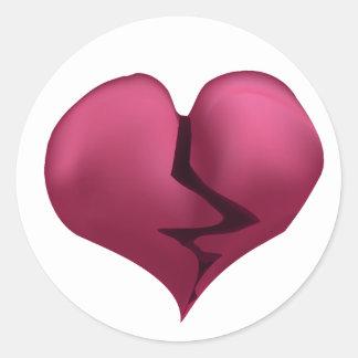 Pegatina del gráfico de vector del corazón quebrad