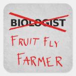 Pegatina del granjero de la mosca del vinagre