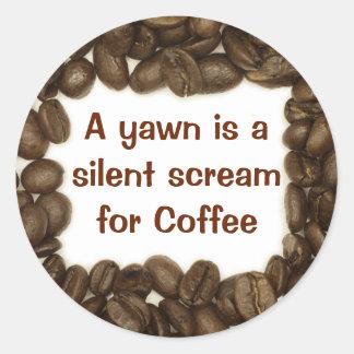 Pegatina del grano de café