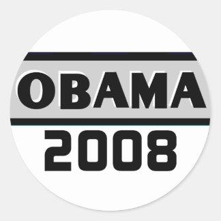 Pegatina del gris 08 de Obama de la raya negra