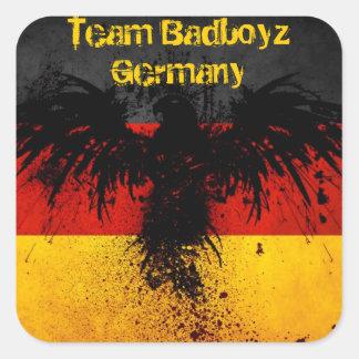 Pegatina del Grunge de Badboyz Alemania del equipo