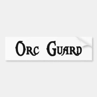 Pegatina del guardia de Orc Pegatina De Parachoque