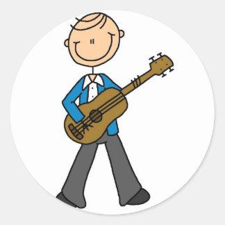 Pegatina del guitarrista del muchacho