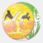 pegatina del hacha del ginga del capoeira