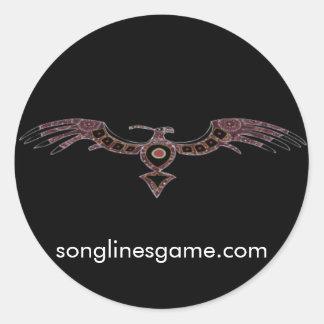 Pegatina del halcón de Songlines
