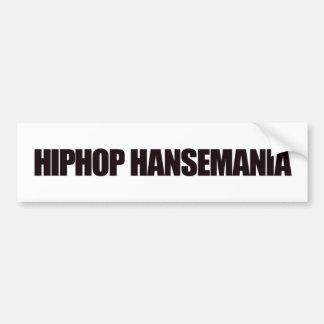 pegatina del hansemania de hiphop pegatina para auto