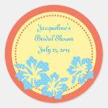 Pegatina del Hawaiian del hibisco