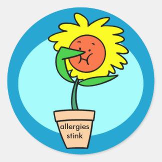 pegatina del hedor de las alergias