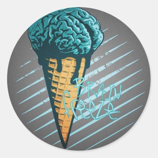 Pegatina del helada del cerebro