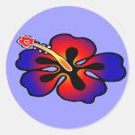 Pegatina del hibisco