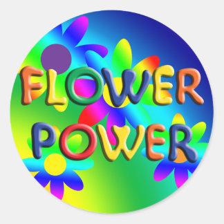 Pegatina del Hippie del flower power