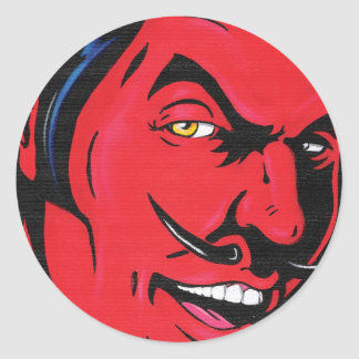 Pegatina del hombre del diablo