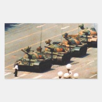 Pegatina del hombre del tanque