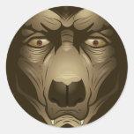 Pegatina del hombre lobo