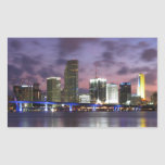 Pegatina del horizonte de la tarde de Miami