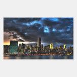 Pegatina del horizonte de la tarde de New York