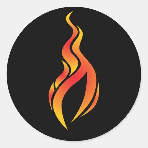 Pegatina del icono de la llama