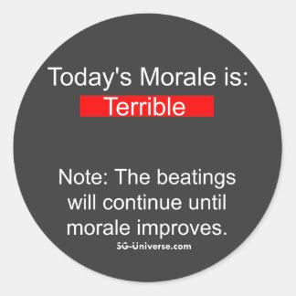 Pegatina del informe de la moral
