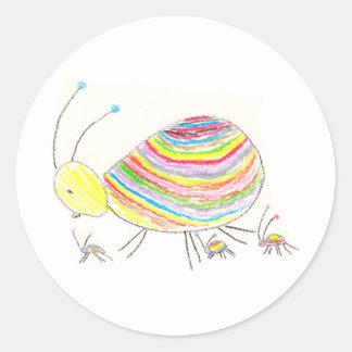 Pegatina del insecto del color