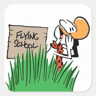 Pegatina del instructor de la escuela de vuelo del