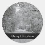Pegatina del invierno de las Felices Navidad