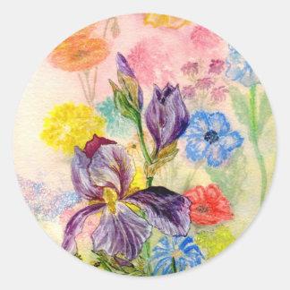 """Pegatina del """"iris púrpura"""""""