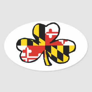 Pegatina del irlandés de Maryland