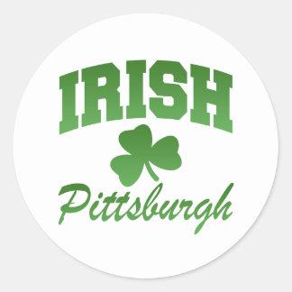Pegatina del irlandés de Pittsburgh